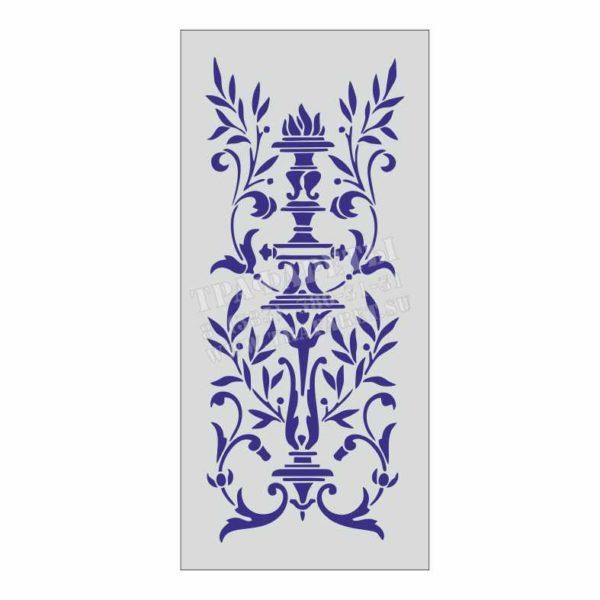Стиль АМПИР, трафарет для декора стен и дизайнерских решений