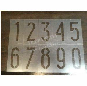 Цифры для нанесения порядковых номеров на Путевой пикетный знак