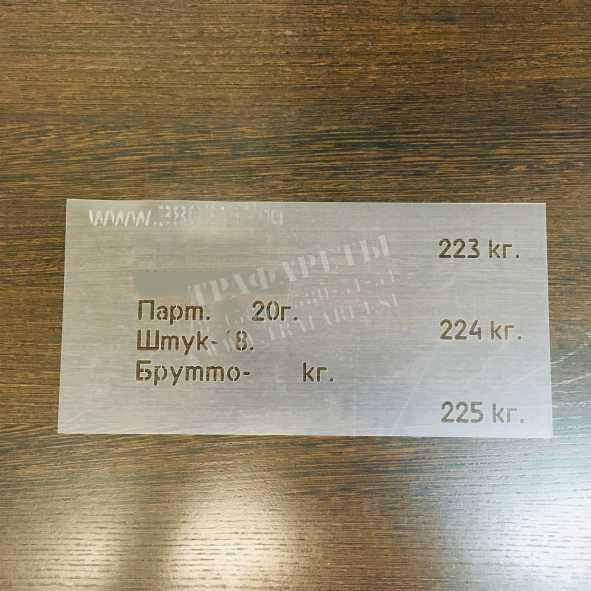 """Трафарет """"Маркировка упаковки по ГОСТ"""", ПЭТ, лазерный рез"""
