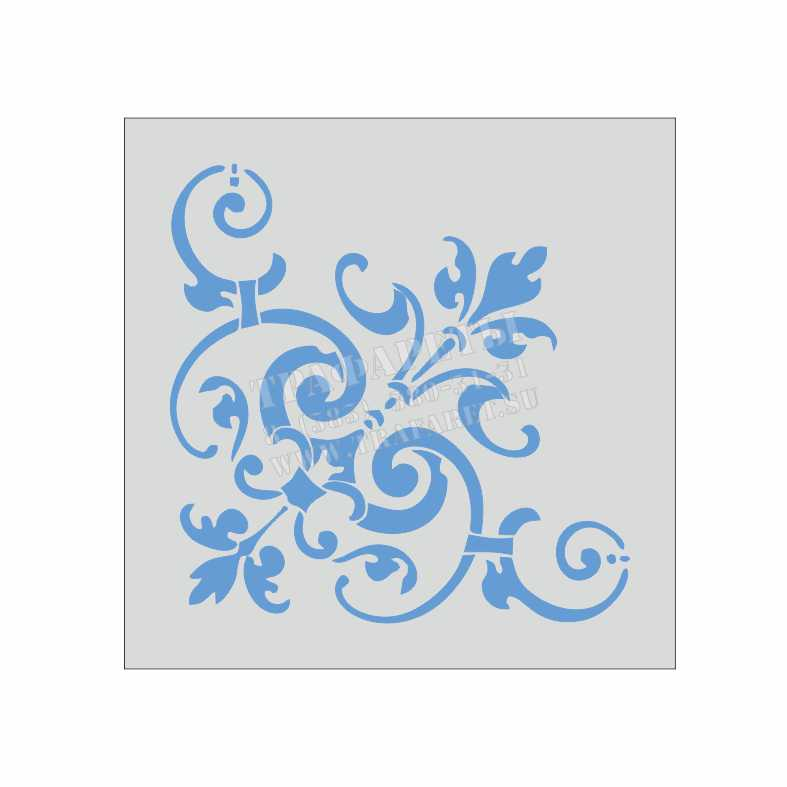 Трафарет для стен, простые декоративные элементы, под покраску 3
